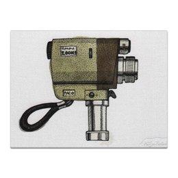 """Холст 30x40 """"Фотокамера"""" - retro, camera, фотокамера"""