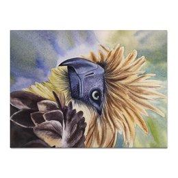 """Холст 30x40 """"Филиппинский орел """" - животные, птица, фиолетовый, иллюстрация, перья"""