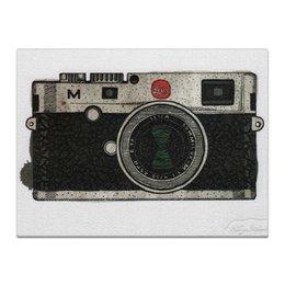 "Холст 30x40 ""Фотоаппарат"" - ретро, фотоаппарат, camera, leica"