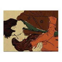 """Холст 30x40 """"Love / Любовь"""" - любовь, 14 февраля, дом, поцелуй, влюбленные"""