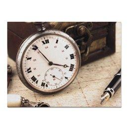 """Холст 30x40 """"Ретро"""" - ретро, часы, винтаж, время"""