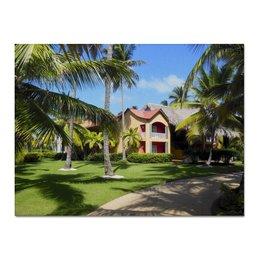 """Холст 30x40 """"""""Доминикана. Тропический сад"""""""" - лето, путешествия, travel, пальмы, доминикана"""