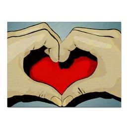 """Холст 30x40 """"Save your Love"""" - сердце, любовь, love, 14 февраля, поп-арт"""