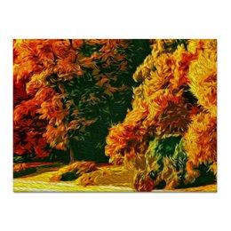 "Холст 30x40 ""Осень"" - осень, картина, краски, сказка, масло"