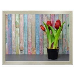"""Холст 30x40 """"Тюльпаны"""" - лето, весна, интерьер, тюльпаны, весенние принты"""