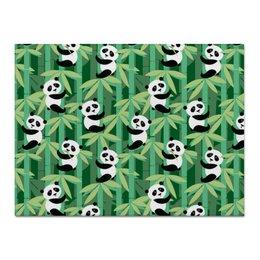 "Холст 30x40 ""Жизнь панд"" - узор, животные, панда, лес, бамбук"