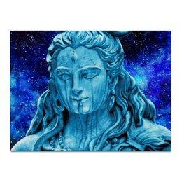 """Холст 30x40 """"Господь Шива и Космос"""" - индуизм, бог, шива, shiva, mahadev"""