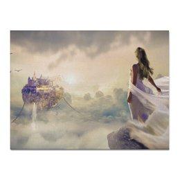 "Холст 30x40 ""Мечты"" - мечты, красота, принцесса, нежность, замок"