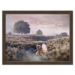 """Холст 30x40 """"Девочка спешит домой"""" - картина, художник, история, живопись, художественно"""