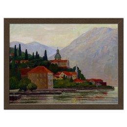 """Холст 30x40 """"Вечер в Которе"""" - город, горы, пейзаж, черногория, котор"""