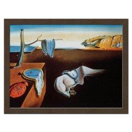 "Холст 30x40 ""Постоянство памяти Сальвадора Дали"" - картина, сальвадор дали, постоянство памяти, мягкие часы, текущие часы"