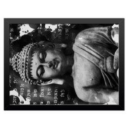 """Холст 30x40 """"Будда (Письмена)"""" - философия, религия, буквы, будда, буддизм"""