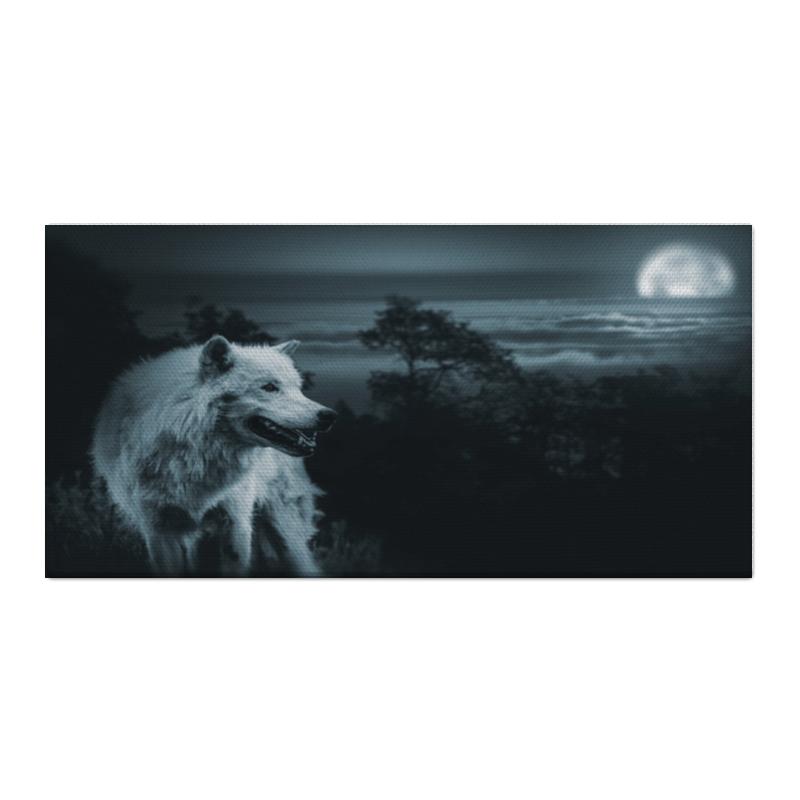 Холст 30x60 Printio Белый волк