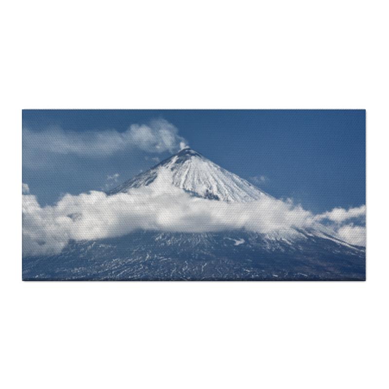 Холст 30x60 Printio Камчатка, осенний пейзаж, извержение вулкана