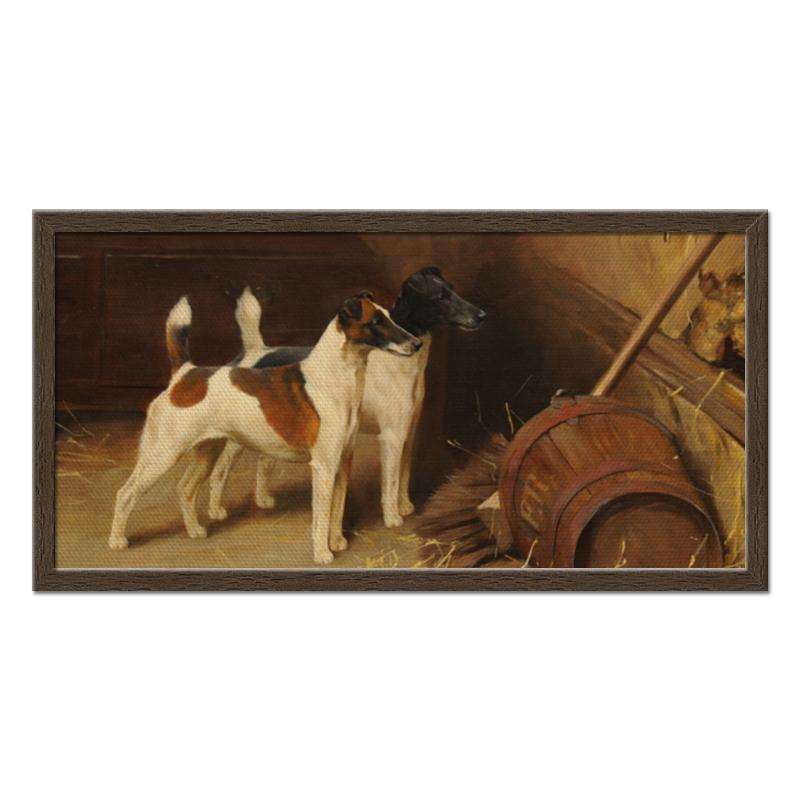 Холст 30x60 Printio 2018 год желтой собаки репродукция ржавый рассвет 500х700мм холст