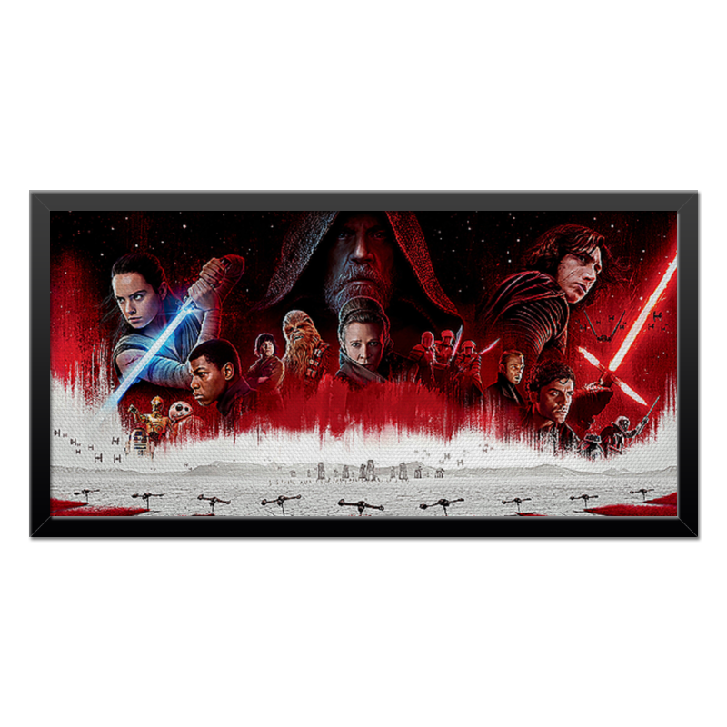 Холст 30x60 Printio Star wars - the last jedi футболка классическая printio star wars the last jedi