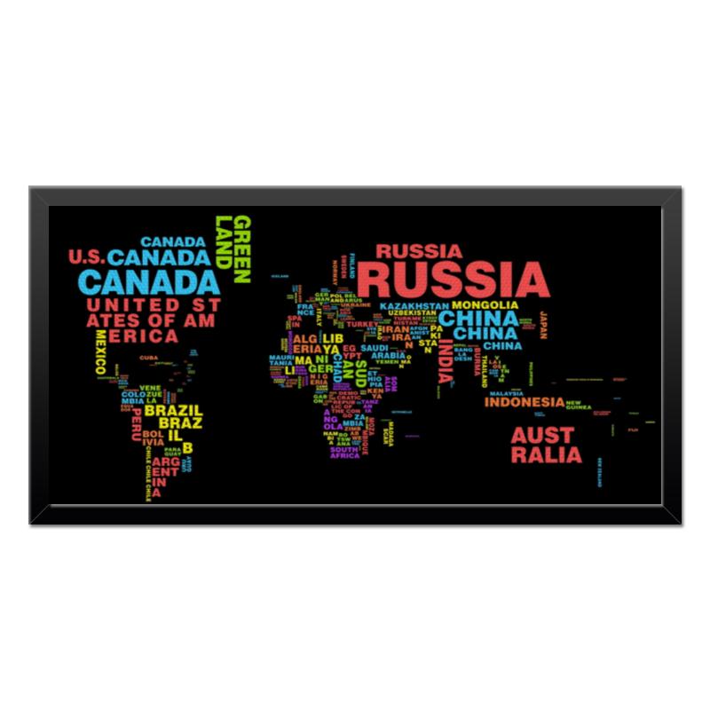 Холст 30x60 Printio Карта мира холст 30x60 printio веселая коллекция разноцветных пончиков