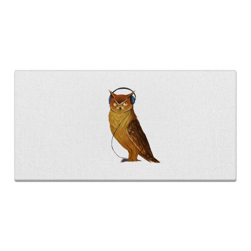 Холст 30x60 Printio Сова в наушниках конверт средний с5 printio сова в наушниках