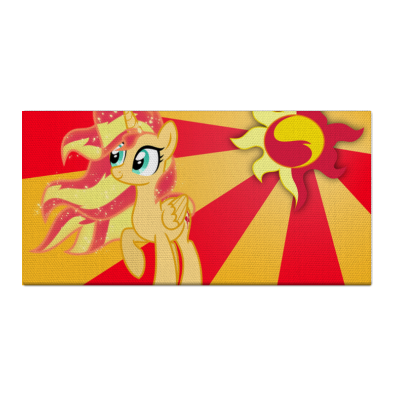 Printio Sunset shimmer color line холст 30x60 printio sunset shimmer color line