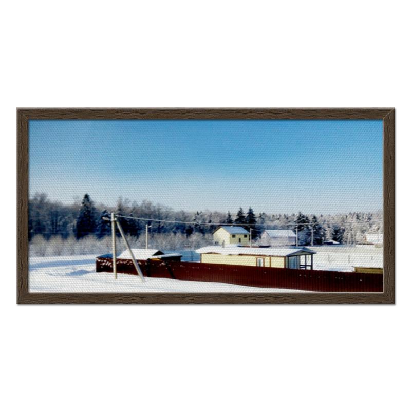 Холст 30x60 Printio Зима. мороз. солнце. холст 30x60 printio зима мороз солнце