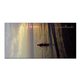 """Холст 30x60 """"Купание на закате"""" - море, закат, лето, девушка"""