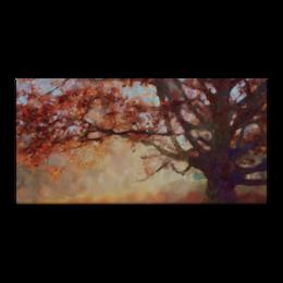 """Холст 30x60 """"Осень"""" - осень, пейзаж, дерево, живопись, листва"""