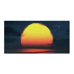 """Холст 30x60 """"Закат на море"""" - солнце, море, закат, пейзаж"""