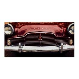 "Холст 30x60 ""Ретро авто"" - ретро, авто, красный, машина, фары"