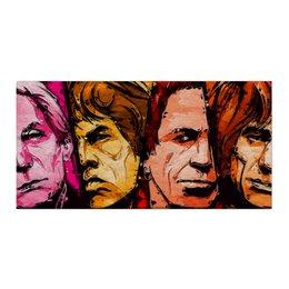 "Холст 30x60 ""Rolling Stones"" - музыка, арт, рок, группа, rock, rolling stones, попарт, роллинг стоунз, the rolling stones"