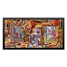 """Холст 30x60 """"Оранжевый дом."""" - арт, узор, абстракция, фигуры, текстура"""