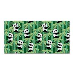 "Холст 30x60 ""Жизнь панд"" - узор, животные, панда, лес, бамбук"