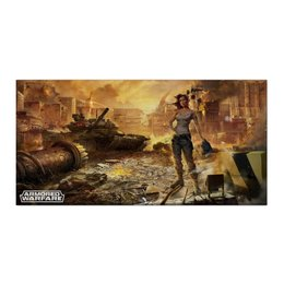 "Холст 30x60 ""Armored Warfare"" - игра, game, танки, aw, armored warfare"