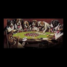 """Холст 30x60 """"Собаки играют в покер"""" - животные, покер, собаки, купить картину собаки играют в покер, собаки играют в покер"""