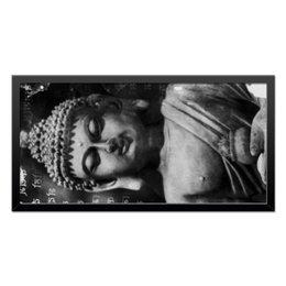 """Холст 30x60 """"Будда (Письмена)"""" - философия, религия, буквы, будда, буддизм"""