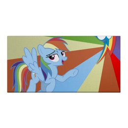 "Холст 30x60 ""Rainbow Dash Color Line"" - rainbow dash, magic, fim, cutiemark, friendship"