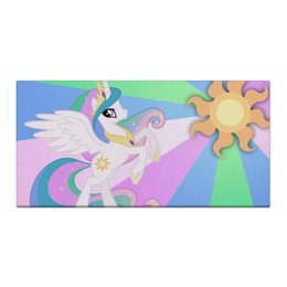 "Холст 30x60 ""Princess Celestia Color Line"" - magic, celestia, friendship, princess"