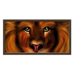 "Холст 30x60 ""Лев - хищник"" - хищник, лев, царь зверей"