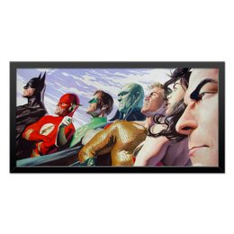 "Холст 30x60 ""Justice League/Лига Справедливости"" - comics, комиксы, batman, justice league, лига справедливости"