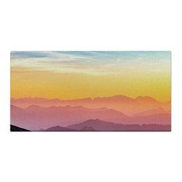 "Холст 30x60 ""Без названия"" - небо, природа, закат, горы, пейзаж"
