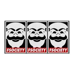 "Холст 30x60 ""Мистер Робот. Fsociety"" - сериалы, хакер, мистер робот, fsociety, mr robot"