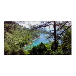 """Холст 30x60 """"Греция"""" - лето, море, острова, греция, сосны"""