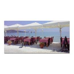 """Холст 30x60 """"Сиеста"""" - море, закат, путешествие, острова, греция"""