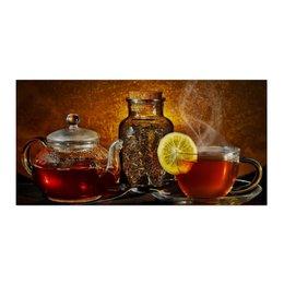"""Холст 30x60 """"Чайпитие"""" - чай, тепло, заварка, чайпитие"""