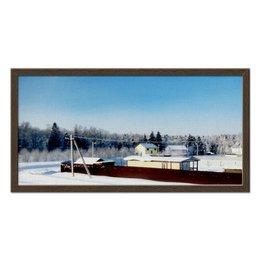"Холст 30x60 ""Зима. Мороз. Солнце."" - снег, зима, дача, мороз, солнце"