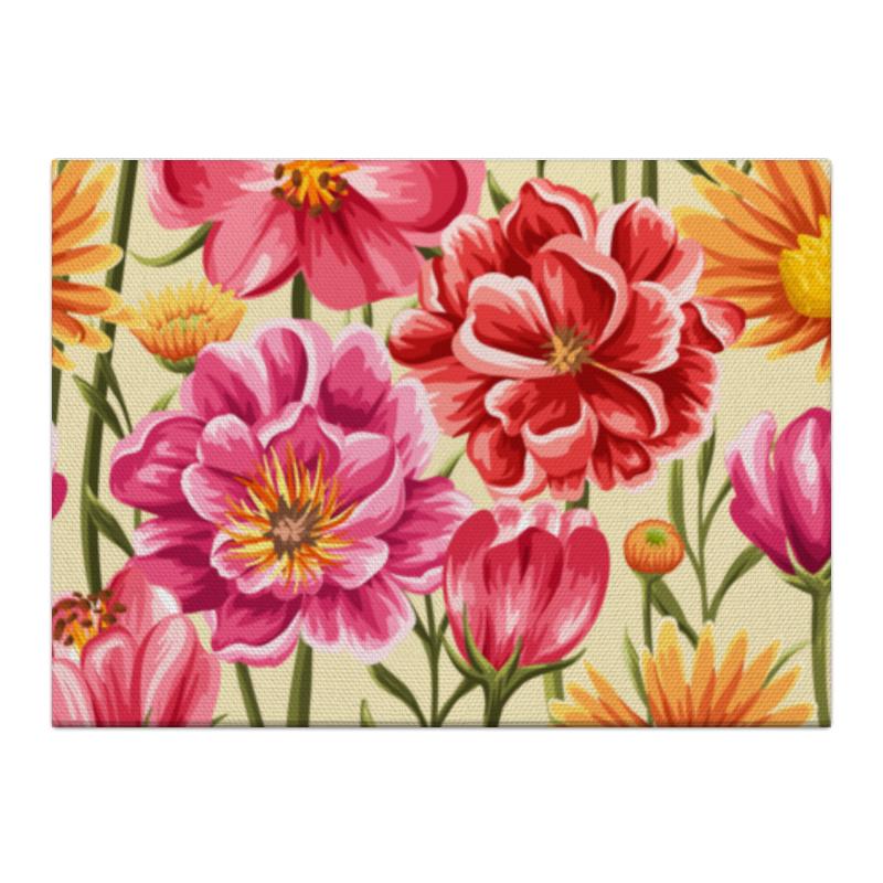 Холст 40x55 Printio Садовые цветы