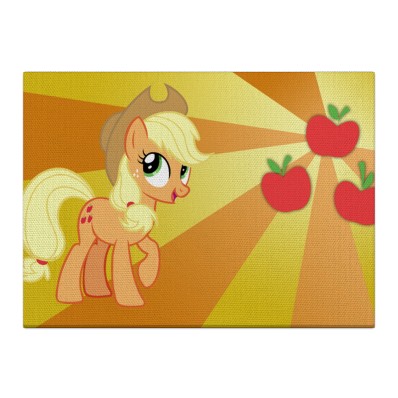 Холст 40x55 Printio Applejack color line