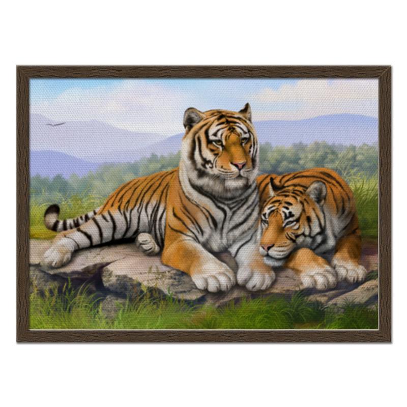 Холст 40x55 Printio Тигры молочная смесь semper bifidus 1 с рождения 400 г