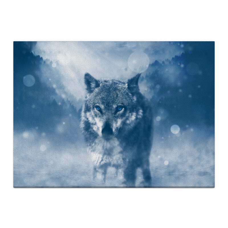 Холст 40x55 Printio Волк с голубыми глазами холст 20х30 printio волк с голубыми глазами