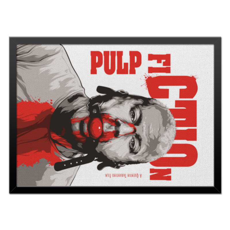 Холст 40x55 Printio Pulp fiction (брюс уиллис) тетрадь на клею printio pulp fiction брюс уиллис