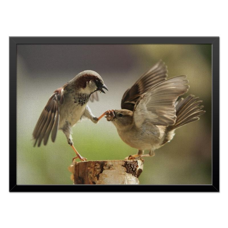 Холст 40x55 Printio Забавные птички